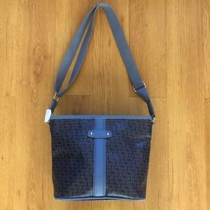 Handbags - NWOT Faux Leather Crossbody Purse Bag Satchel Blue